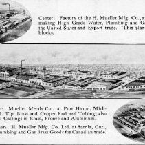 Image of Postcard Mueller Co. Pictures of factories--front