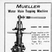 Image of Advertising --Mueller Water Main tapping machine