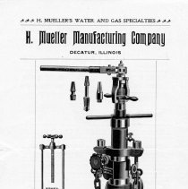 Image of Advertising Handbill Mueller Tapping Machine-- Front