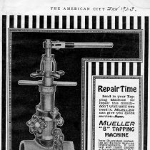 Image of Advertising Mueller Tapping Machine--American City magazine  1923