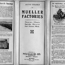 Image of Pamphlet  Auto Trails to Mueller Factories
