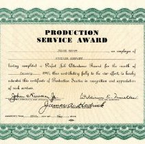 Image of Award--Production Service Award to Jesse Ditty  May 1945