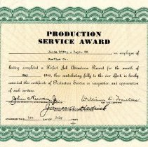 Image of Award--Production Service Award to Jesse Ditty-28 July, 1945