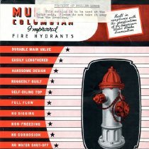 Image of Catalogue Mueller Columbian Fire Hydrants--Lodge Copy  Front