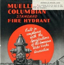 Image of Catalogue--Mueller Columbian Standard Fire Hydrant--Lodge copy--Front cover