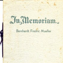 Image of Memorial booklet Bernhardt Mueller 1935
