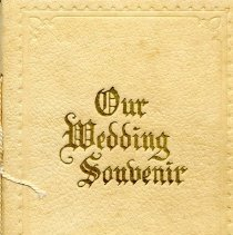 "Image of Booklet ""Our Wedding Souvenir""  Bernhardt and Alberta 's wedding"