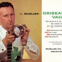 Image of Advertising Postcard for Mueller Oriseal Valve