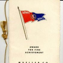 Image of Program Award for Fine Achievement Army/Navy E Award----Front Cover