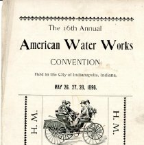 Image of Brochure--handout at the 16th Annual American Water Works Convention  1896