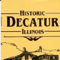 Image of Pamphlet--Decatur Walking Tour