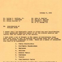 Image of Letter 1980  From Frank Mueller re: distribution of Mueller Story
