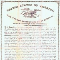Image of copy Naturalization Papers  Hieronymus Mueller