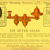 Image of Advertisement Postcard  Mueller Co.  side 1