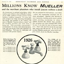 Image of Advertising Mueller Faucets