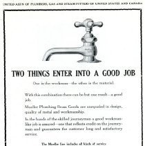Image of Advertising Mueller Faucet / Plumbing Goods