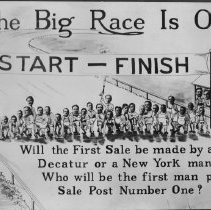 Image of Poster  The Big Race  Sales Incentive Campaign