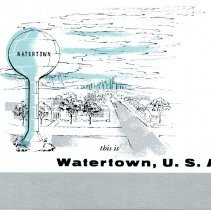 Image of Booklet Watertown USA  cover