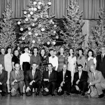 Image of Mueller Employees at Chritsmas Party  c. 1969