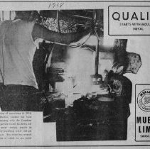 Image of Newspaper ad for Mueller Limited, Sarnia Canada  1968