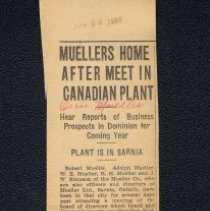 Image of Muellers Home After Meet In Canadian Plant  1920
