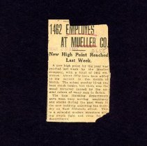 Image of 1462 Employees At Mueller Co.  1925