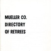 Image of Booklet Mueller Directory of Retirees  1975  cover
