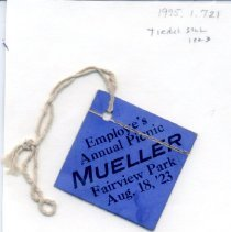 Image of Badge - Annual Mueller Picnic Badge