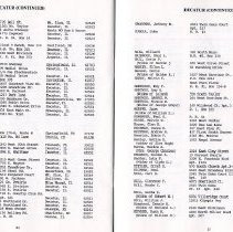 Image of Directrory of Retirees 1988  pages 24 & 25
