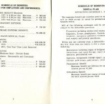 Image of Group Benefits 1977  pages 2 & 3