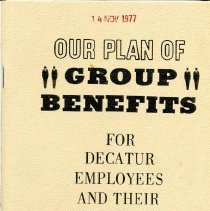 Image of Mueller Group Benefits 1977  cover