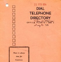 Image of 2002.2.8b - Directory, Telephone