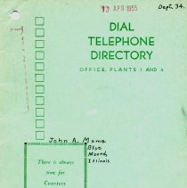 Image of 2002.2.8d - Directory, Telephone