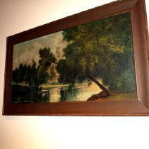 Image of Painting - Painting of Sangamon River Bend, Mueller Place