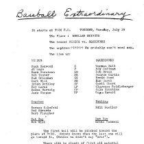 Image of Baseball Program c. 1928
