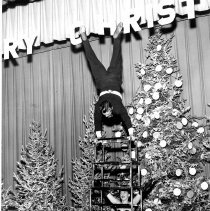 Image of Acrobats performing at Christmas