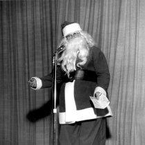 Image of Santa at the Christmas Program  c1950s