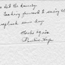 Image of Pauline Hays letter  Page 2