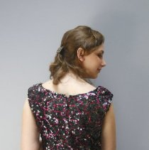 Image of Black & Pink Sequened Dress  4
