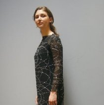 Image of Outerwear - Black two-piece evening dress with underslip