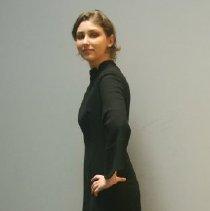 Image of Long Black Wool Dress   2