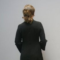 Image of Long Black Wool Dress  3