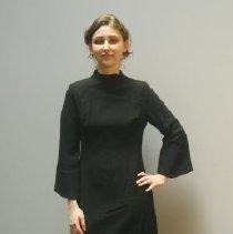 Image of Long Black Wool Dress  1
