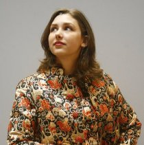 Image of Outerwear - Black and orange brocade dress and coat