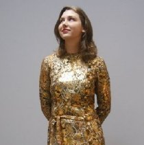 Image of Outerwear - Gold brocade dress
