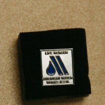 Image of Pin - Silver pin: life member of American Water Works Assn.