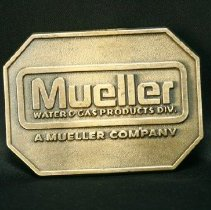 Image of adornment - Commemorative Mueller belt buckle