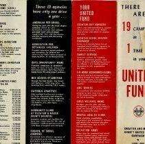 Image of United Way fund raising pamphlet  2
