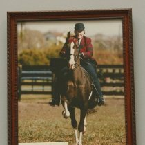 Image of Jane Mueller & her horse  Bartles & James