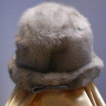 Image of Grey Mink Hat   Back    Jane Mueller